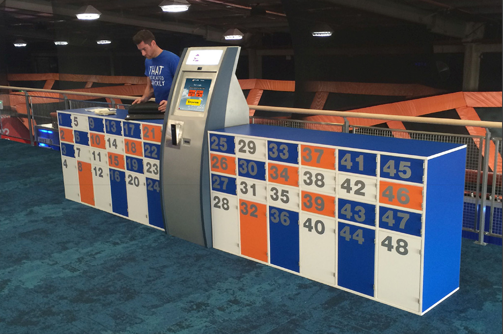 Rent A Locker - Timber Hire Lockers at Skyzone Trampoline Park