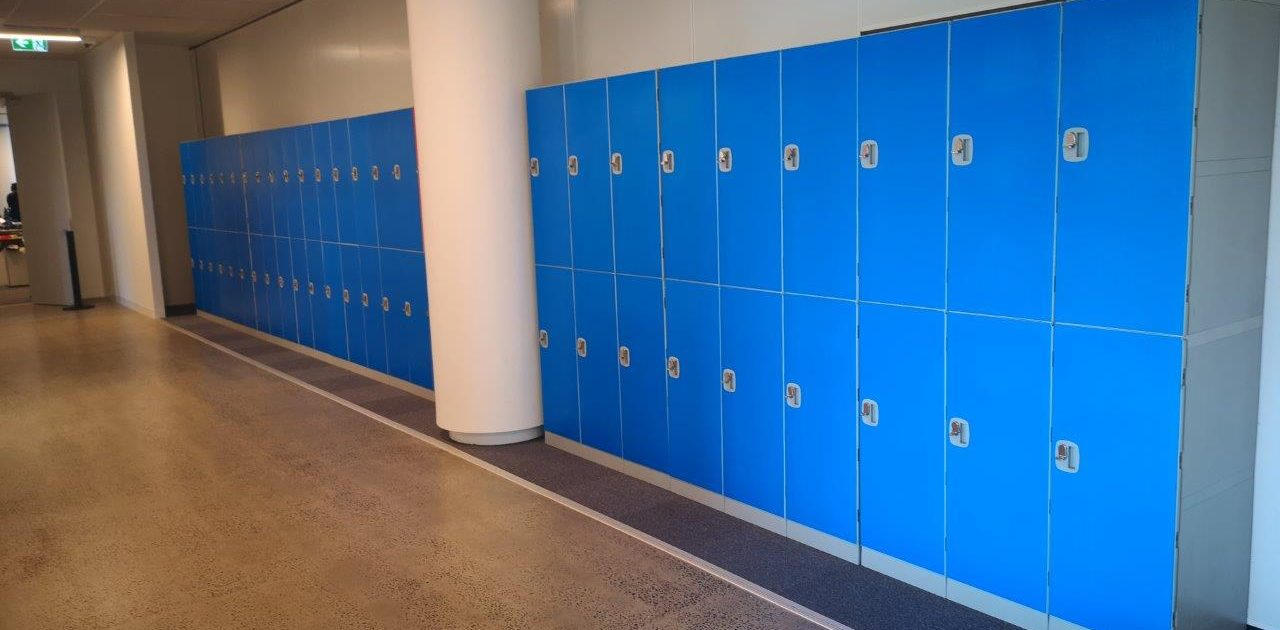 Plastic Event Hire Lockers 2 Tier